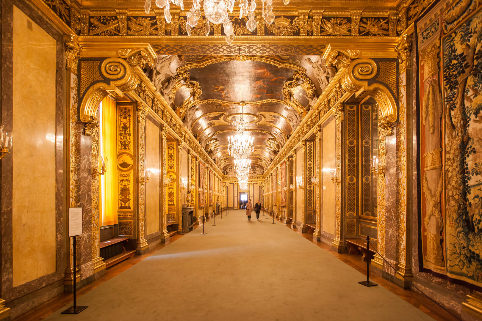 Karl XI Gallery in the Royal Palace of Stockholm, a baroque style room inspired by the hall of mirrors at Versailles, Sweden