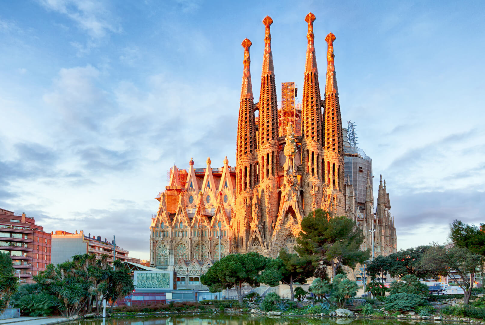 La Sagrada Familia - the impressive cathedral designed by Gaudi, which is being build since 19 March 1882 and is not finished yet