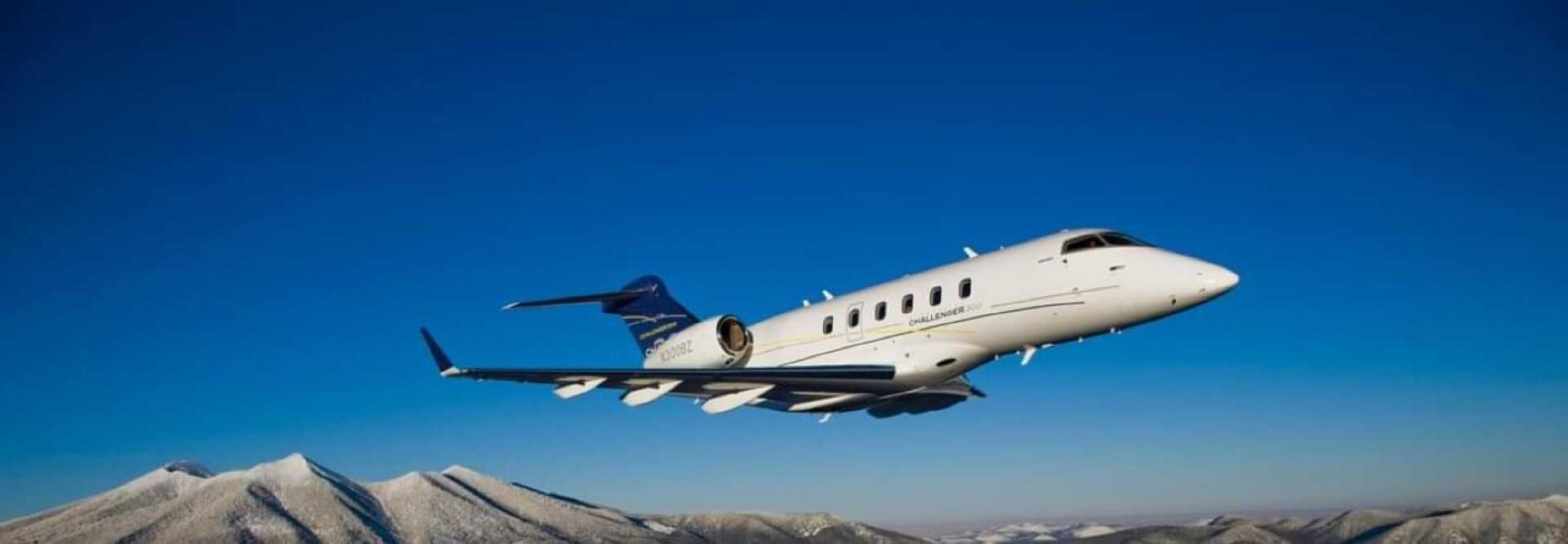 Super Midsize Jet Bombardier Challenger 300 to hire for private jet charter with LunaJets, medium-haul flights, spacious and luxurious