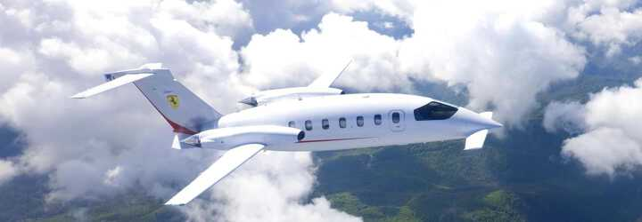 Turboprop Piaggio Avanti P180 to charter for private aviation flights with LunaJets, italian design