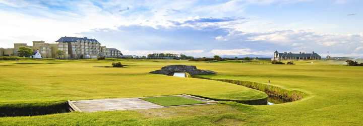 Swilken bridge at Saint Andrews in Scotland the home of golf illustrating the Open Championship